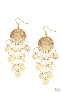 Turn On The BRIGHTS Gold Earrings