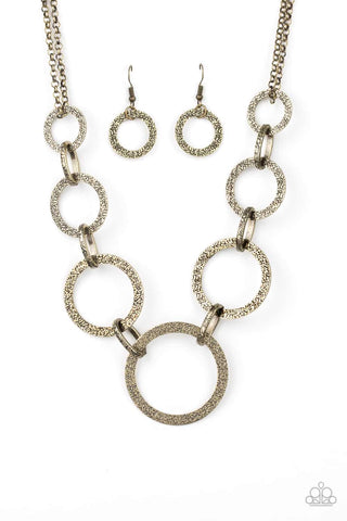 City Circus Brass Necklace