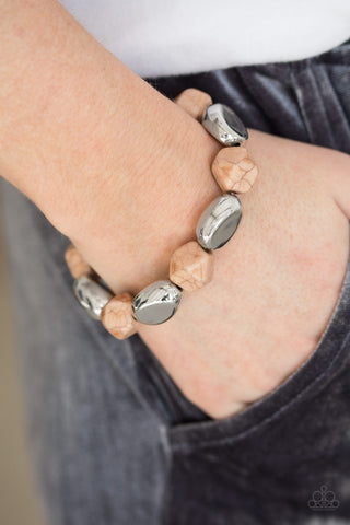 Rock Candy Canyons Brown Bracelet