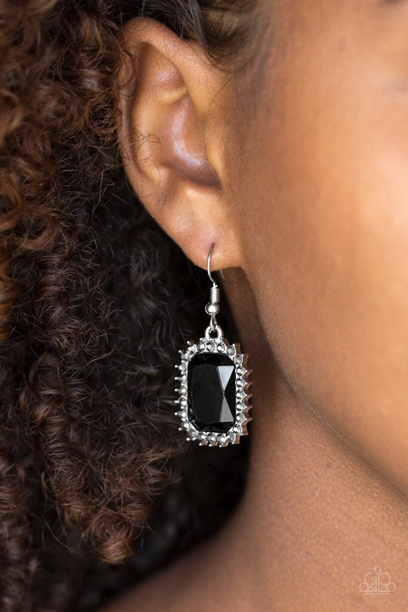 Downtown Dapper Black Earrings