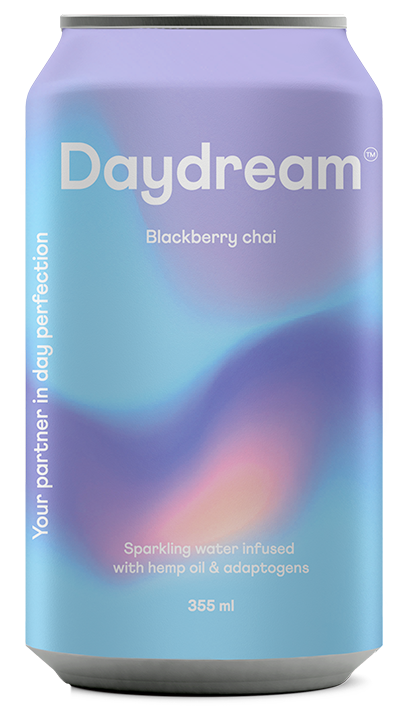 Blackberry Chai Sparkling Water- with Hemp Oil