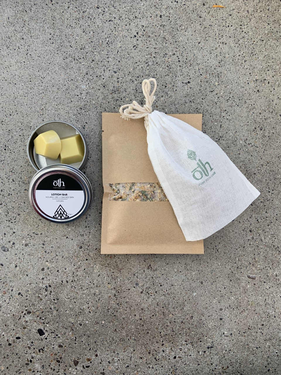 ōTH Pure Body Care: Lotion Bar + Herbal Oat Milk Bath Gift Pack