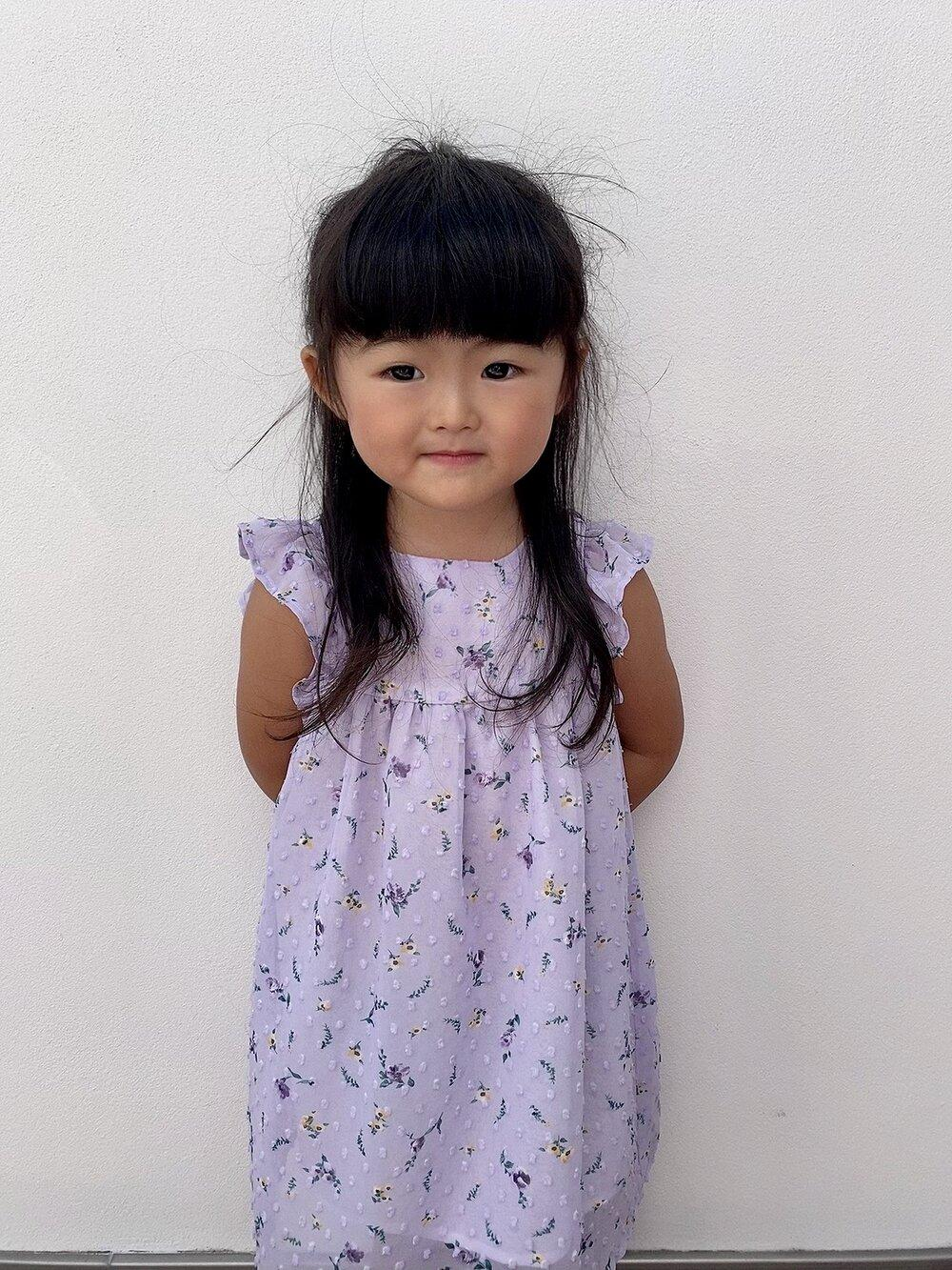 Daisy Girl Floral Dress Lilac