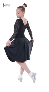 Long Sleeve Lace Ballroom Dress