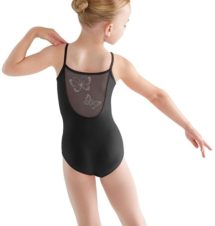 CL9507 Sheer Back Butterfly Cami Leotard