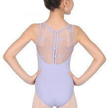 Load image into Gallery viewer, CL9555 Keyhole Bow Mesh Back Tank Leotard