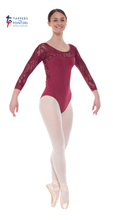 Load image into Gallery viewer, Ele/1 3/4 Length Sleeved Leotard with Sweetheart Neckline