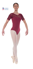 Load image into Gallery viewer, Ele/3 Short Sleeved Leotard with Sweetheart Neckline