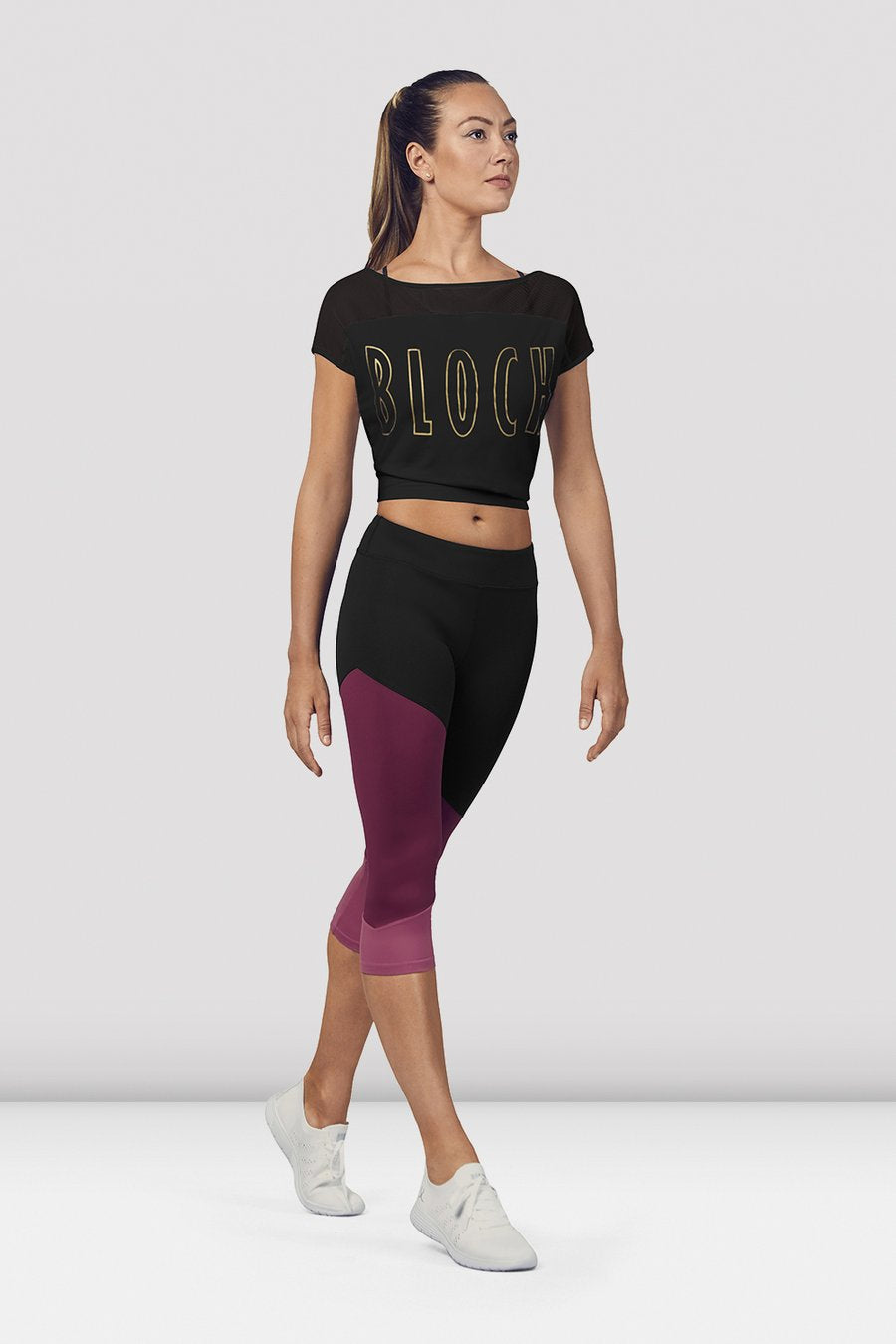 FT5206 Ladies Crop Mesh Tee