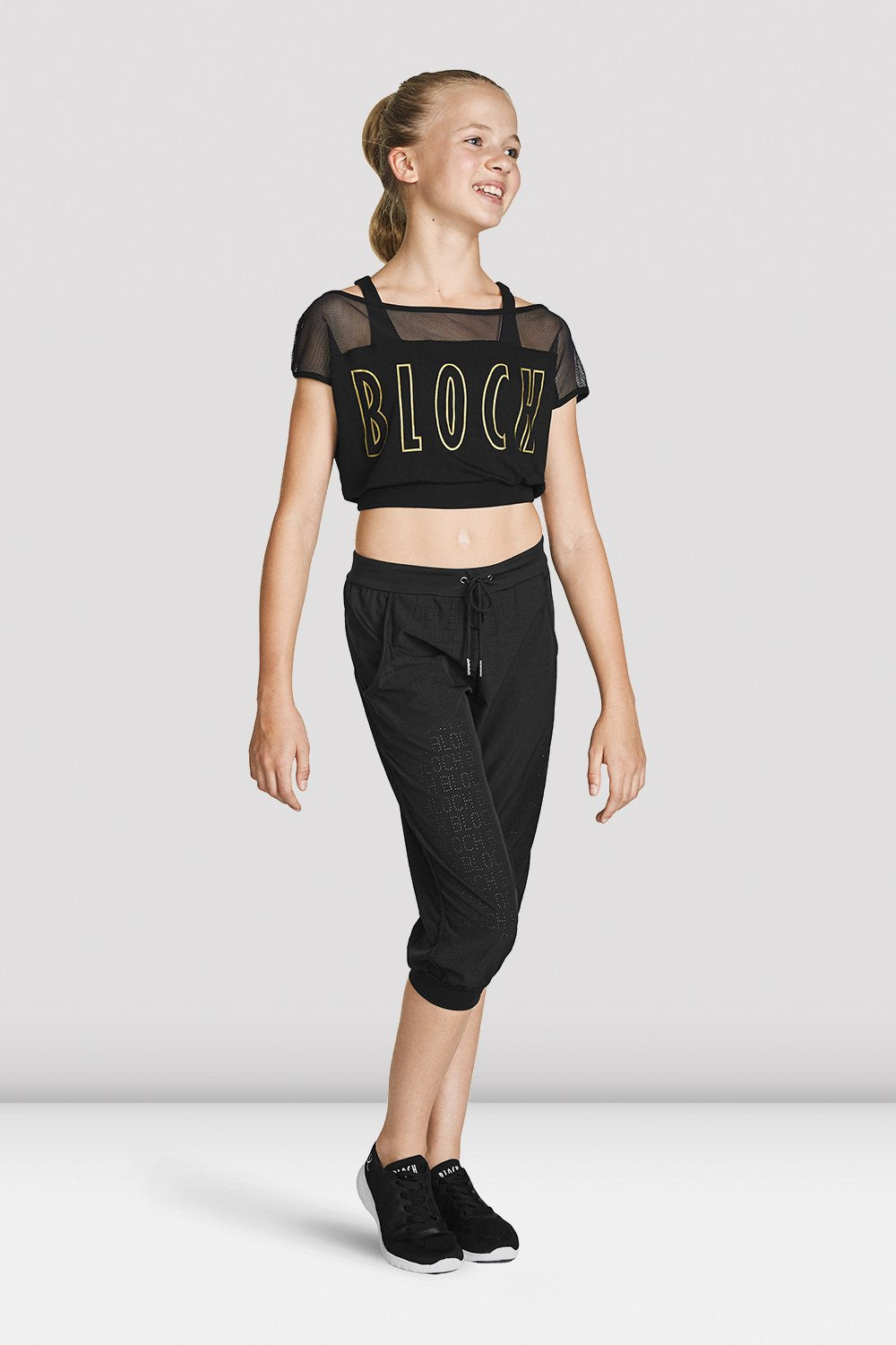 FT5219C Girls Crop Mesh Tee