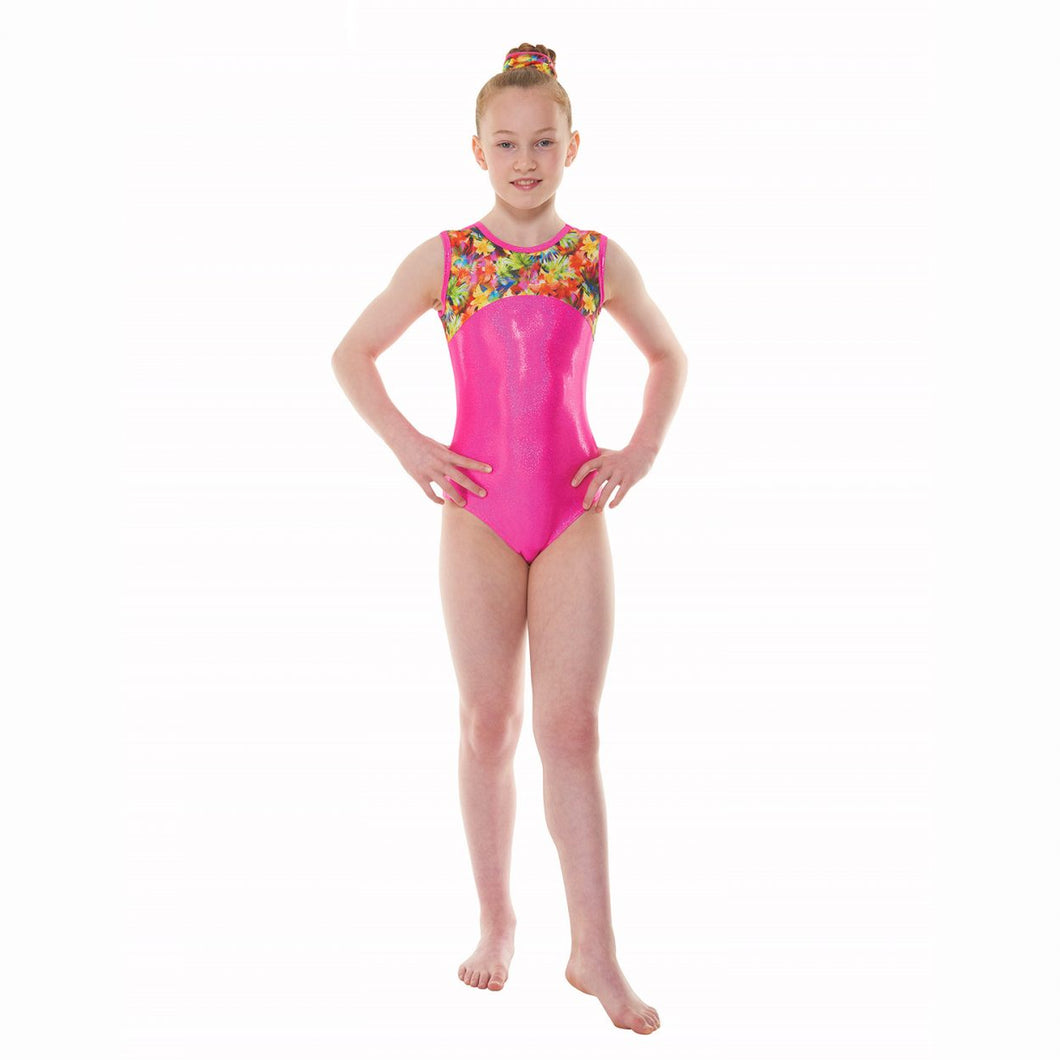 Sleeveless Foil Gymnastic Leotard