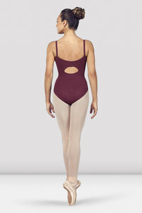 L4927 Ladies Vilette Zip Front Open Back Camisole Leotard