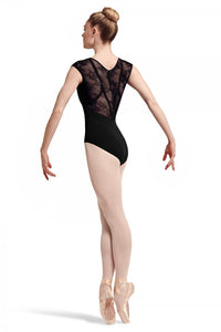 L7714 Hava Cap Sleeve Leotard with lace back
