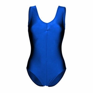 Leo2 Sleeveless Ruched Front Leotard