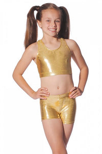 Scrop Metallic Roch Valley Crop Top