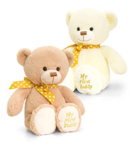 20cm Supersoft 1st Teddy Keel Toy
