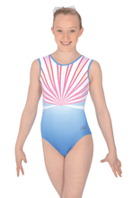 Load image into Gallery viewer, Z543OLY Olympia Multi-coloured Matt Lycra Gymnastics Leotard