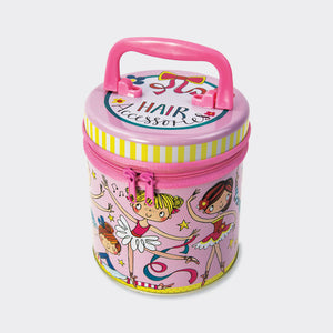 Ballerina Zipped Hair Accessories Tins