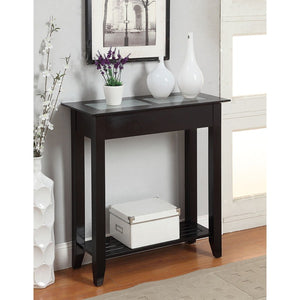 Convenience Concepts Sheesham  Carmel Hall Table in Espresso walnut