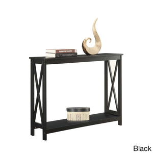Convenience Concepts Oxford Console Table in Duel Tone