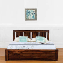 Load image into Gallery viewer, Florentine Sheesham Wood King Size Bed  in Box Storage - Walnut Color