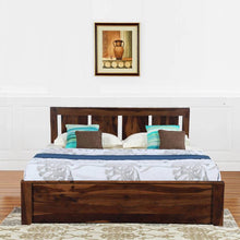Load image into Gallery viewer, Florentine Sheesham Solid Wood Queen Bed In Brown Color