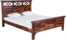 Load image into Gallery viewer, Vintage Home Broadway Sheesham Wood Queen Bed - Finish Color - Provincial Teak Finish
