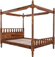 Load image into Gallery viewer, Vintage Home Sofia Poster Sheesham Wood Queen Bed - Finish Color - Provincial Teak