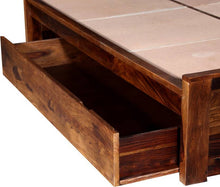 Load image into Gallery viewer, Oslo Drawer Sheesham Solid Wood King Drawer Bed in Provincial Teak