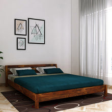 Load image into Gallery viewer, Sheesham Hugo  Queen size Bed In Provincial teak Finish