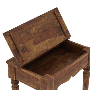 Sheesham Wood Study Table in Natural Finish - Provincial Teak