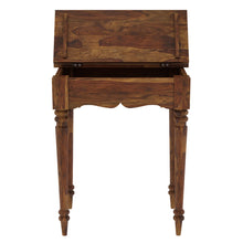 Load image into Gallery viewer, Sheesham Wood Study Table in Natural Finish - Provincial Teak