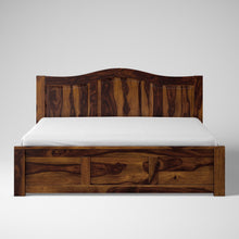 Load image into Gallery viewer, Iris Sheesham Wood  King Size Bed - Provincial Teak