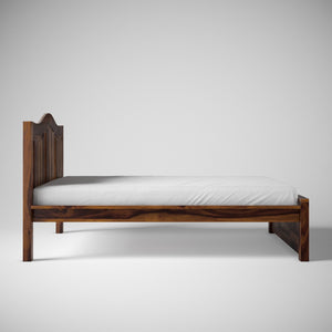 Irish Sheesham Wood Queen Size Without Storage Bed In Provincial Teak Finish