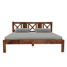 Load image into Gallery viewer, Sheesham Wood King Size Bed - Finish Color - Provincial Teak
