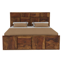 Load image into Gallery viewer, Amrilo Solid Wood Queen size  Bed Without Storage In  Provincial Teak