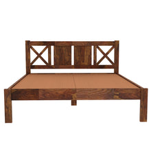 Load image into Gallery viewer, X  Sheesham Wood Queen Size Bed Without Storage Bed In  Provincial Teak