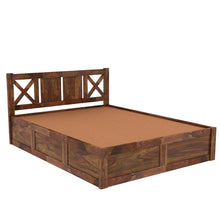 Load image into Gallery viewer, X Sheesham Wood Queen Size Box Storage Bed In Provincial Teak