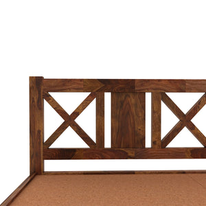 Sheesham  wood king size bed with Box Storage - Finish Color Provincial Teak
