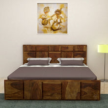 Load image into Gallery viewer, Amrilo King size Bed Without storage In Provincial Teak Finish