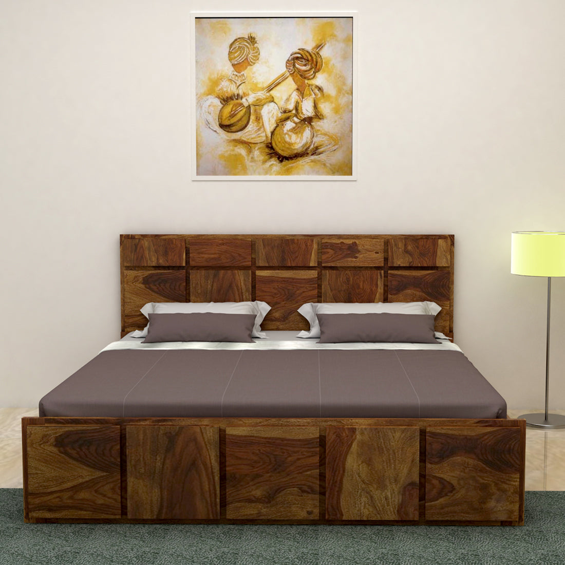 Picture of: Amrilo King Size Bed Without Storage In Provincial Teak Finish Vintage Home