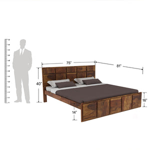 Amrilo King size Bed Without storage In Provincial Teak Finish