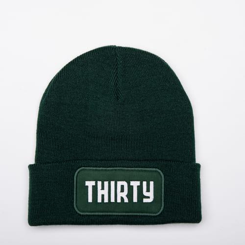 Thirty-nine groene THIRTY beanie special edition