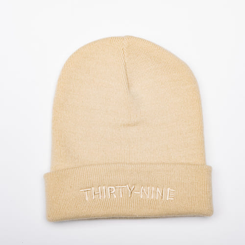 Thirty-nine beige op beige beanie special edition