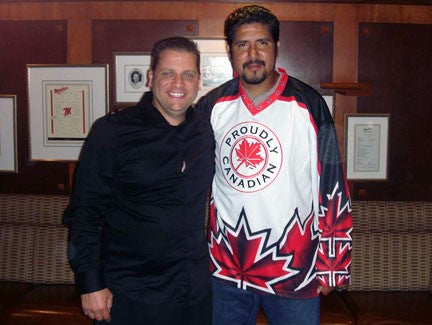 CFL & MONTREAL ALOUETTE QUARTERBACK ANTHONY CALVILLO DONS PROUDLY CANADIAN JERSEY
