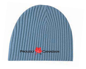 Proudly Canadian Blue Rib Toque