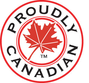 Proudly Canadian Red Maple Leaf Crest