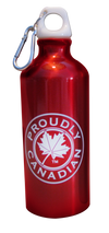 Proudly Canadian Red Aluminum Water Bottle