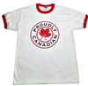 Proudly Canadian Red Ringer T-Shirt
