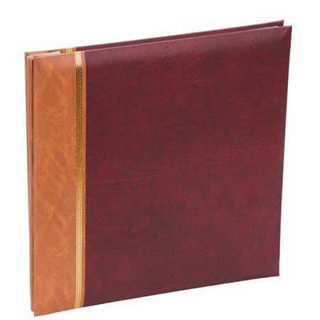 Kenro Grace Traditional Photo Corners Album Red